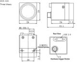 """MER-040-60UC, MT9V032, 752x480, 60fps, 1/3"""" Global shutter CMOS, Color_"""
