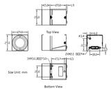 MER-133-54U3C-L-SET, 1.3MP, Global shutter, Color, incl. 16mm lens_