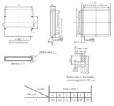 Industrial Machine Vision Bottom lit backlight Dimensions