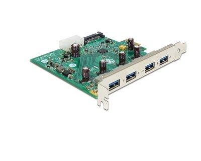 Adapter PCIe1x - 4x USB3.0 - single bus