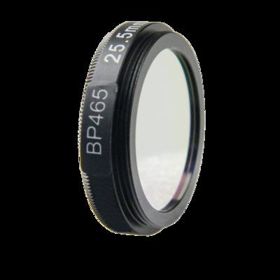 LFT-BP465-M27, Narrow bandpass filter,  465nM Peak wavelenght, useful range between 442-494nM
