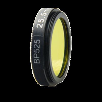 LFT-BP525-M25.5, Narrow bandpass filter,  525nM Peak wavelenght, useful range between 508-556nM