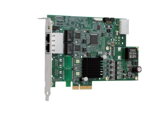 Adapter PCIe4x - 2x GigE-Vision PoE- dual bus