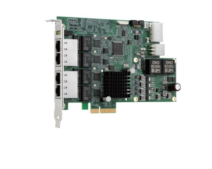 Adapter PCIe4x - 4x GigE-Vision PoE- quad bus