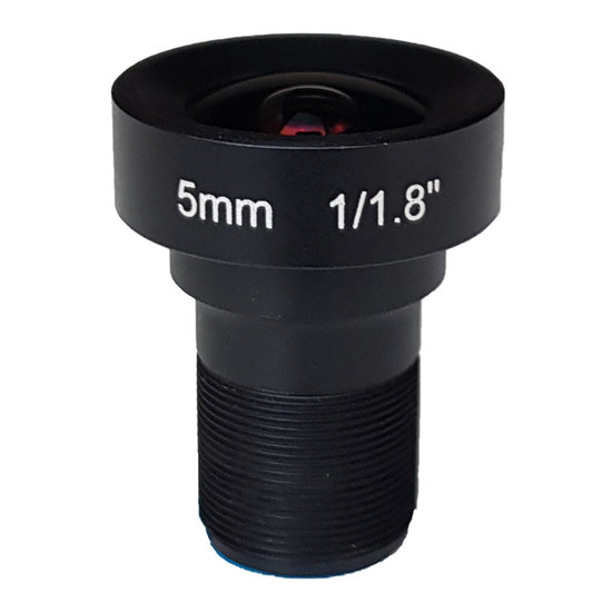 LM12-5MP-05MM-F2.5-1.8-LD1, LENS M12, 5MP, 5MM, F2.5, 1/1.8