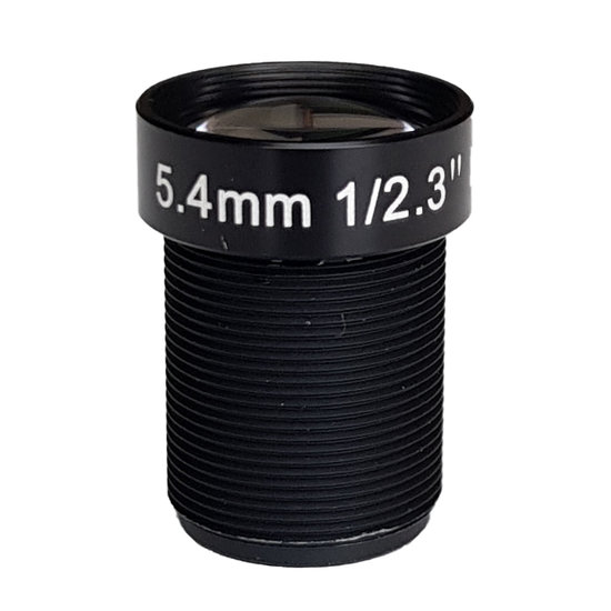 LM12-10MP-05MM-F2.5-2.3-ND1, LENS M12, 10MP, 5.4MM, F2.5, 1/2.3