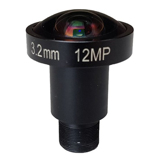 LM12-12MP-03MM-F2.0-1.7-HD1, LENS M12 12MP 3.2MM F2.0 1/1.7