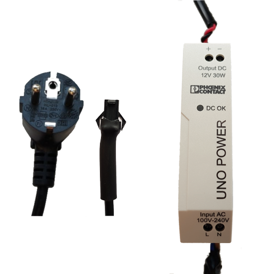 ACC-PS-12V-30W-SET-V1, 30W/12V, 1.5M power cable, 3M light cable