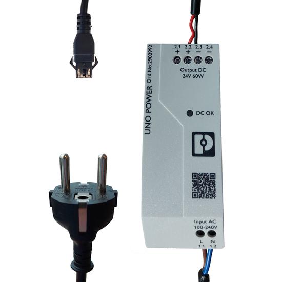 Powersupply-set 24V, 60W/24V, 1.5M power cable, 3M light cable