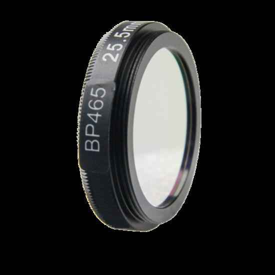 LFT-BP465-M25.5, Narrow bandpass filter,  465nM Peak wavelength, useful range between 442-494nM