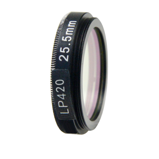 LFT-LP420-M27, Longpass filter, passes all light above 406nM