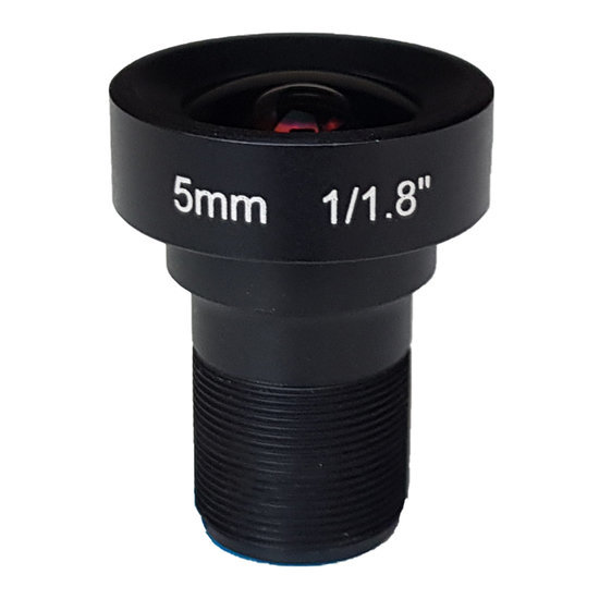 LM12-5MP-05MM-F2.5-1.8-LD1, LENS M12, 5MP, 5MM, F2.5, 1/1.8