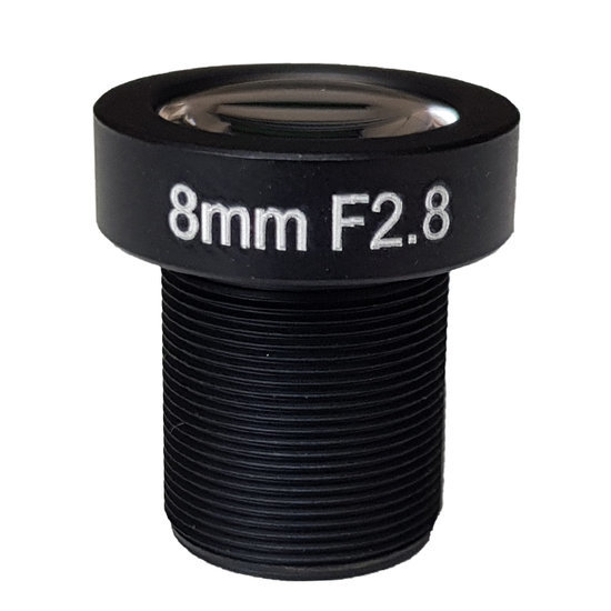 LM12-5MP-08MM-F2.8-1.8-ND1, LENS M12, 5MP, 8MM, F2.8, 1/1.8