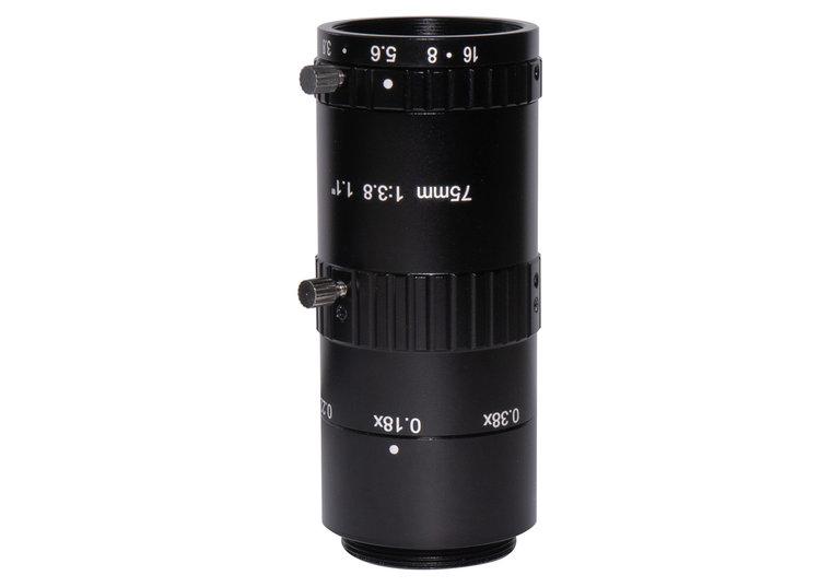 LCM-12MP-75MM-F3.8-1.1-ND1, LENS C-mount 12MP 75MM F3.8 1.1