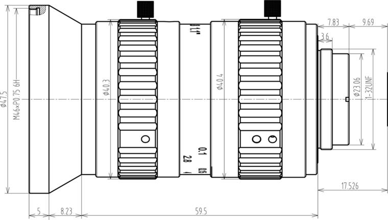 LCM-25MP-12MM-F2.8-1.1-ND1, LENS C-mount 25MP 12MM F2.8 1.1