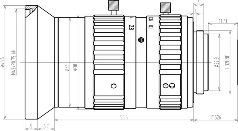 LCM-25MP-16MM-F2.8-1.1-ND1, LENS C-mount 25MP 16MM F2.8 1.1