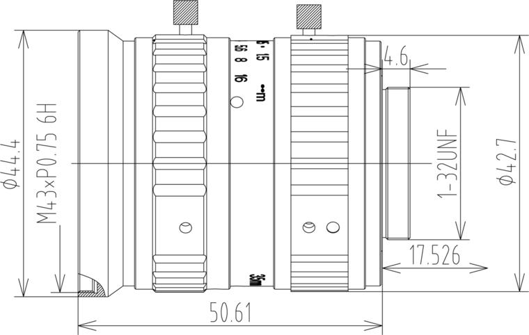 LCM-25MP-35MM-F2.8-1.1-ND1, LENS C-mount 25MP 35MM F2.8 1.1
