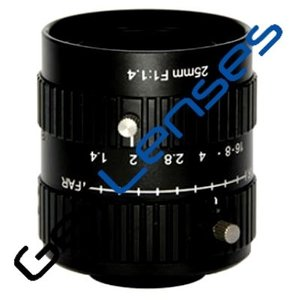 """LCM-10MP-25MM-F1.4-1-ND1, LENS C-mount, 10MP, 25MM, F1.4, 1"""" NON DISTORTION"""
