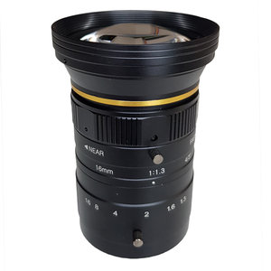"""LCM-12MP-16MM-F1.3-1.3-ND1, LENS C-mount 12MP 16MM F1.3 4/3"""" NON DISTORTION"""