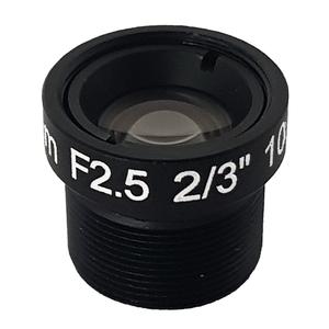 "LENS M12 10MP 12MM F2.5 for max sensorsize 2/3"" NON DISTORTION"