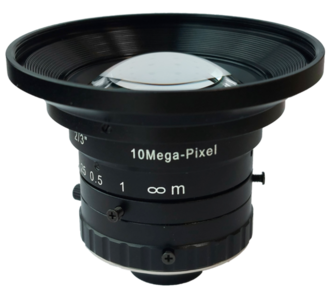 """LCM-10MP-05MM-F1.8-1.5-LD1, LENS C-mount 10MP 5MM F1.8 2/3"""" LOW DISTORTION"""
