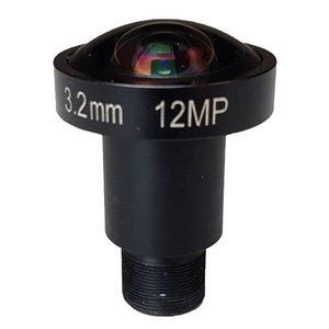 "LM12-12MP-03MM-F2.0-1.7-HD1, LENS M12 12MP 3.2MM F2.0 1/1.7"" HIGH DISTORTION"